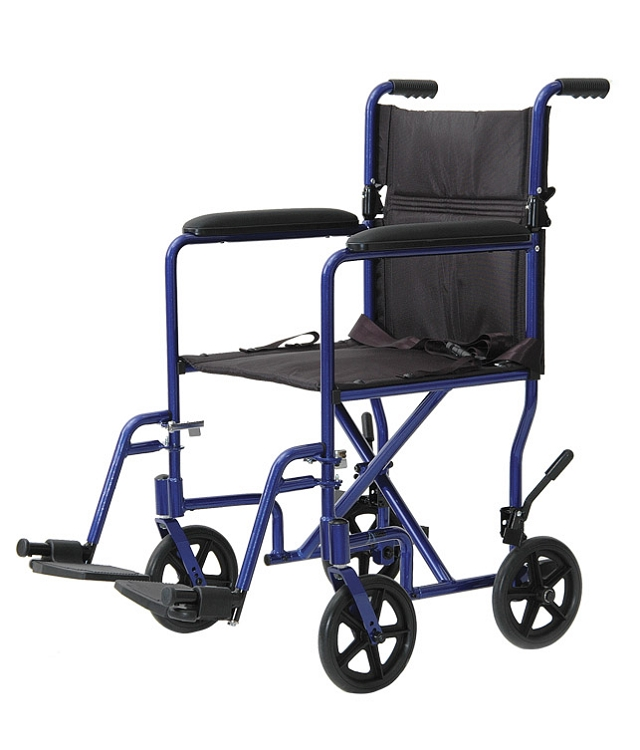 Lightweight Aluminum Transport Chair Rollabout
