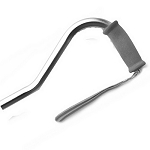 Offset Handle Aluminum Cane - Silver