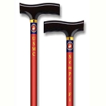 Straight Adjustable Cane - US Marine