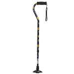 Self Standing Offset Handle Aluminum Cane - Celestial