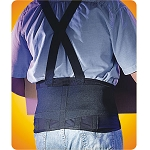 Mesh Industrial Back Support W/Suspenders