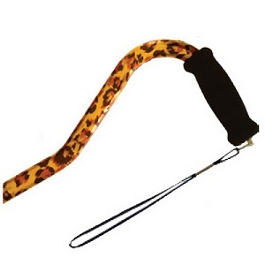 Offset Handle Aluminum Cane - Leopard