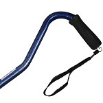 Offset Handle Aluminum Cane - Blue Marble