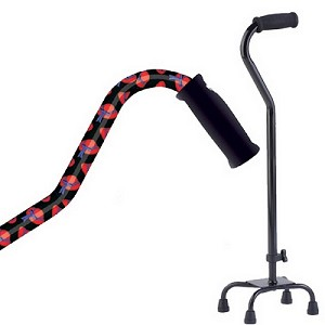Small Base Quad Cane - <br>Red Hat