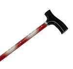 Straight Adjustable Cane - Santa