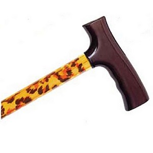 Adjustable Travel Folding Cane - Leopard