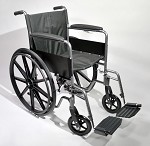 Fixed Arm Wheelchair With Swingaway Footrests