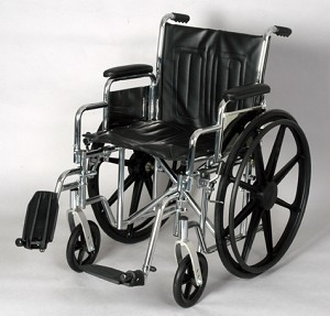 Detachable Desk Arm Wheelchair With Swingaway Footrests
