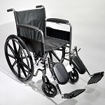 Fixed Arm Wheelchair With Padded Elevating Legrests