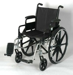 High Strength Lightweight Wheelchair With Swing-away Footrests