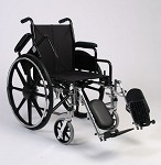 Lightweight Wheelchair With Padded Elevating Footrests