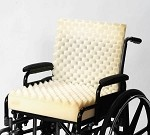 One Piece Convoluted Wheelchair Cushion W/Back
