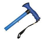 Travel Folding Cane With Comfy Grip Handle - Blue