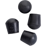 Replacement Rubber Tips Black For Quad seat Cane One Pair