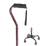 Small Base Quad Cane - Paisley
