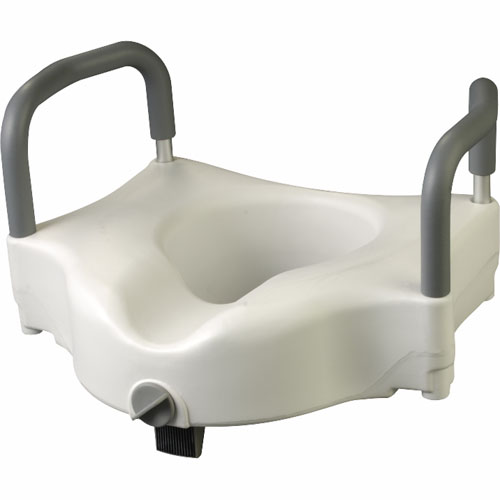 Raised Toilet Seat With Lock Amp Arm