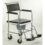 Drop-Arm Transport Chair Commode