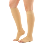 Opaque Knee High Open Toe     30-40 mmHg