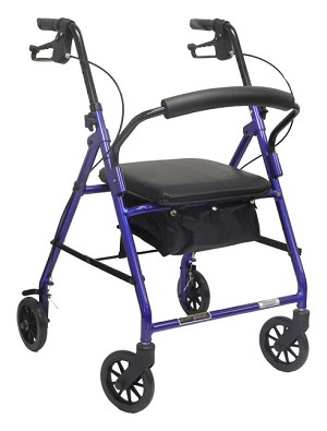 Rollator With Loop Brakes