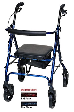 Deluxe Rollator With Loop Brakes