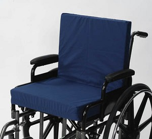 Convoluted Wheelchair Cushion W/Back